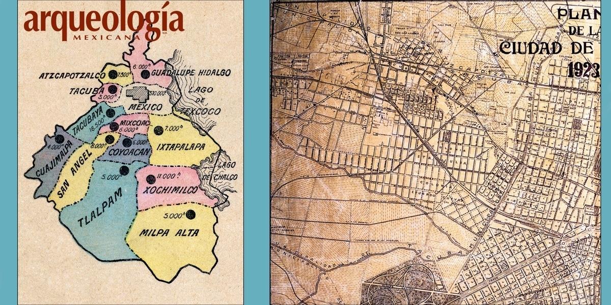 El pueblo de Tacuba y la Ciudad de México a principios del