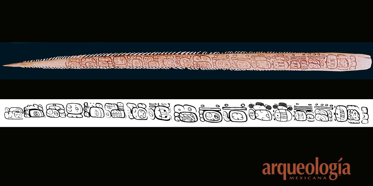 Espina con inscripción de Comalcalco, Tabasco