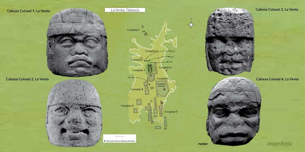 La Venta y las cabezas colosales