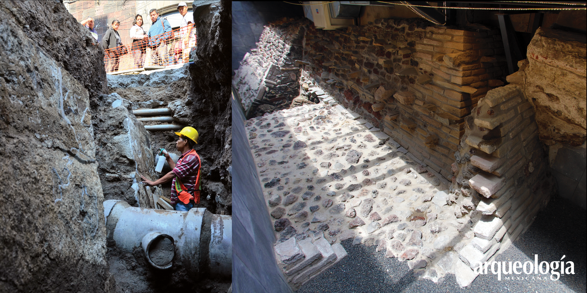 Calle de Argentina (Gran Basamento). Vestigios prehispánicos