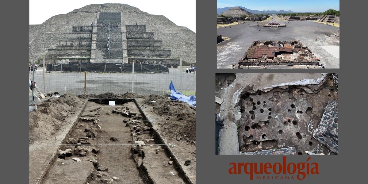 Descubrimientos en la Plaza de la Luna de Teotihuacan, Estado de México