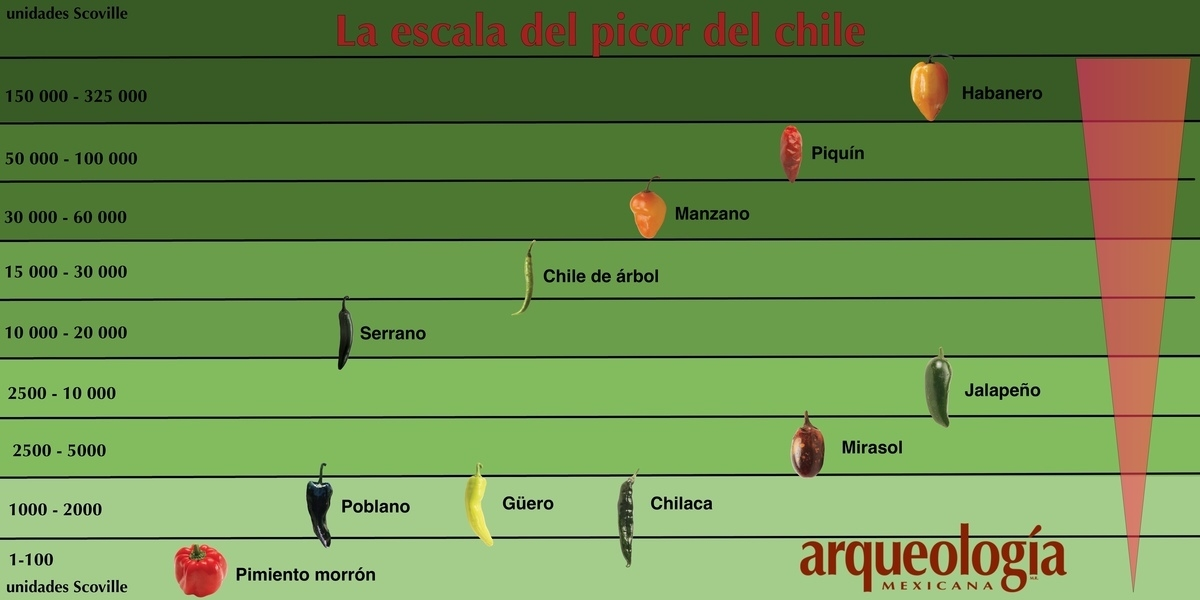 La escala de picor del chile