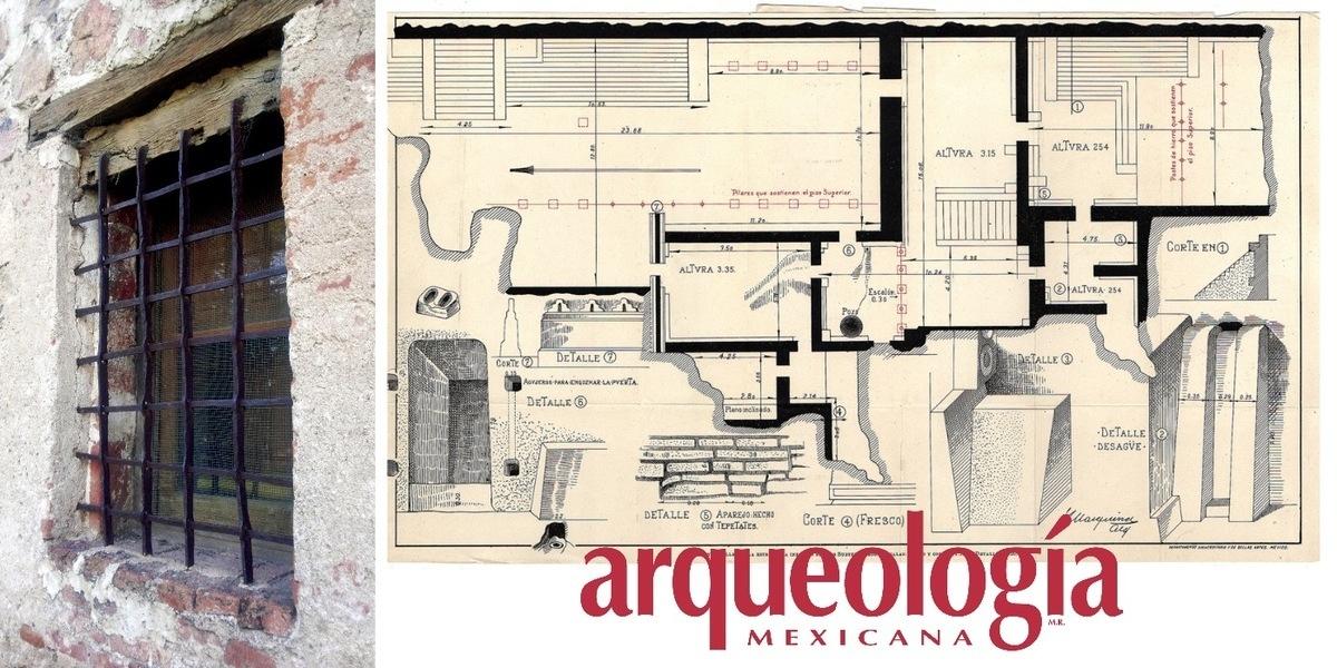 La ventana de Batres en Teotihuacan. Una reja del siglo XVI en los subterráneos