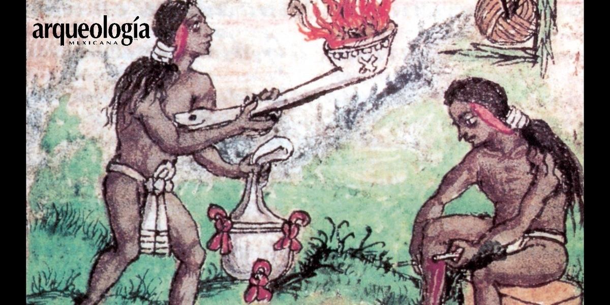 Sacerdotes sahumando y haciendo penitencia
