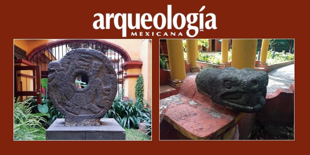 Dos esculturas prehispánicas del barrio de Santa Catarina en Coyoacán