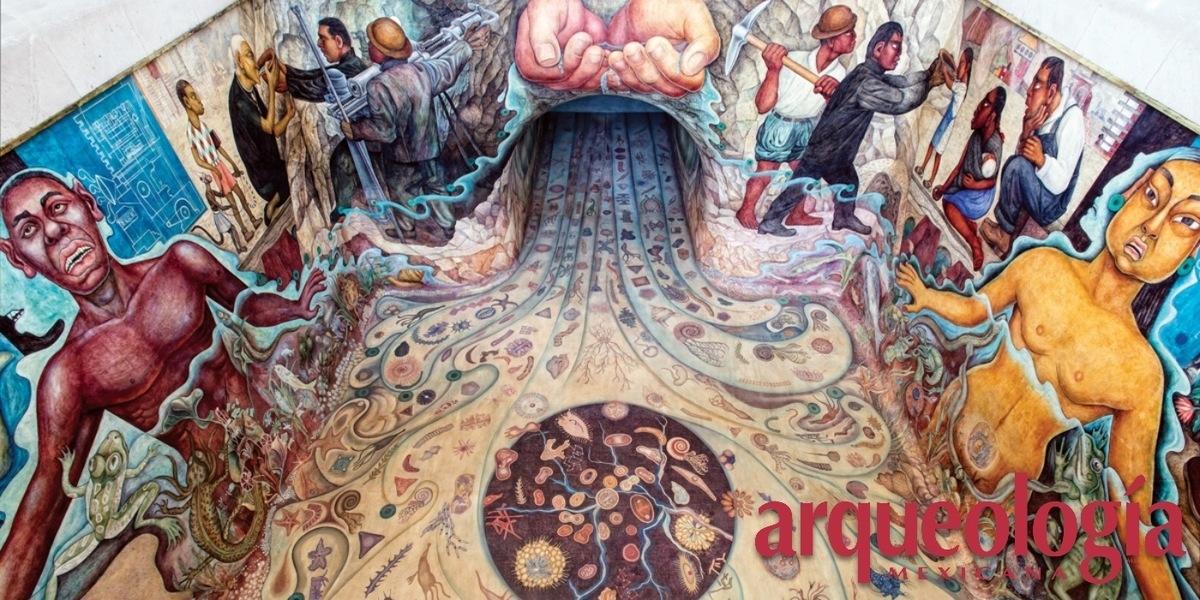 """Viejos olores en la moderna """"acuápolis"""". El mural del cárcamo de Chapultepec"""
