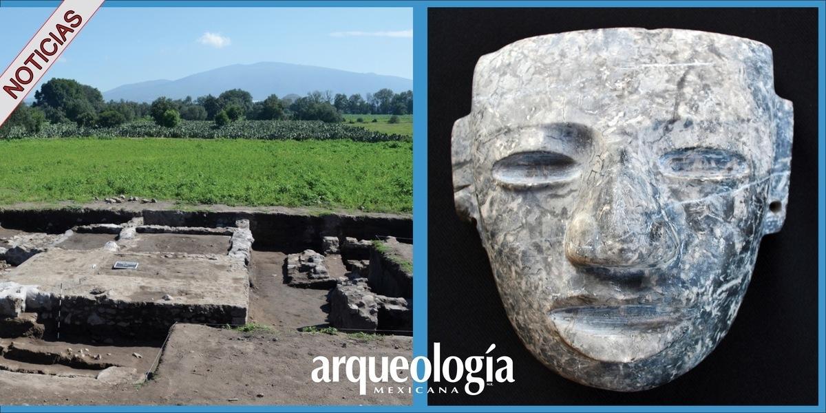 Nueva máscara de piedra en Teotihuacan