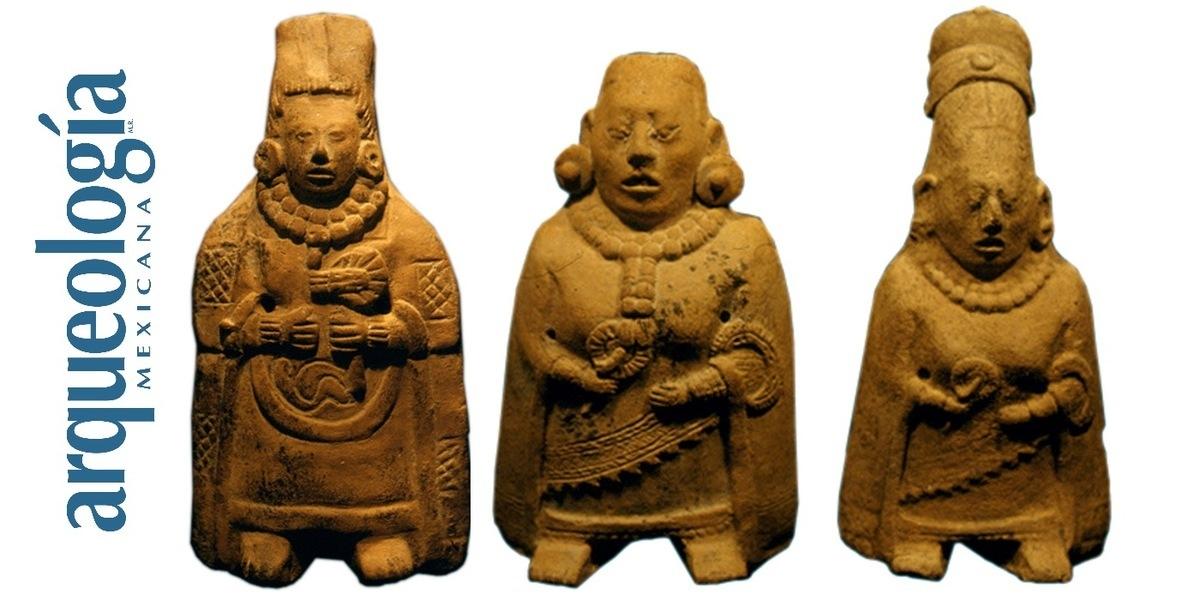 Mujeres y hombres de barro figurillas de Comalcalco