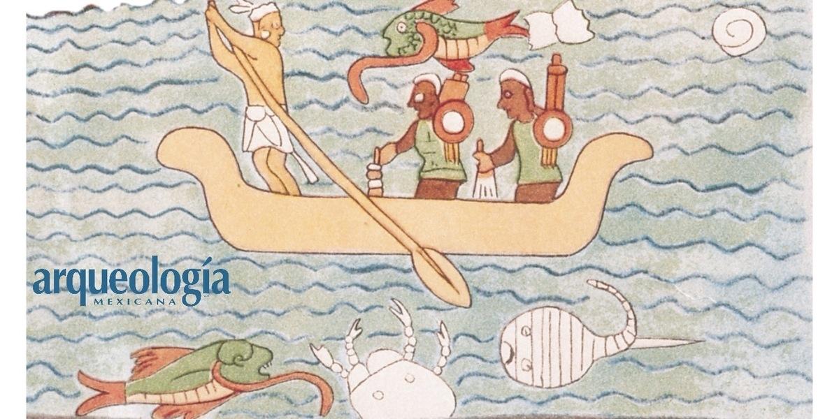 La navegación en la iconografía maya