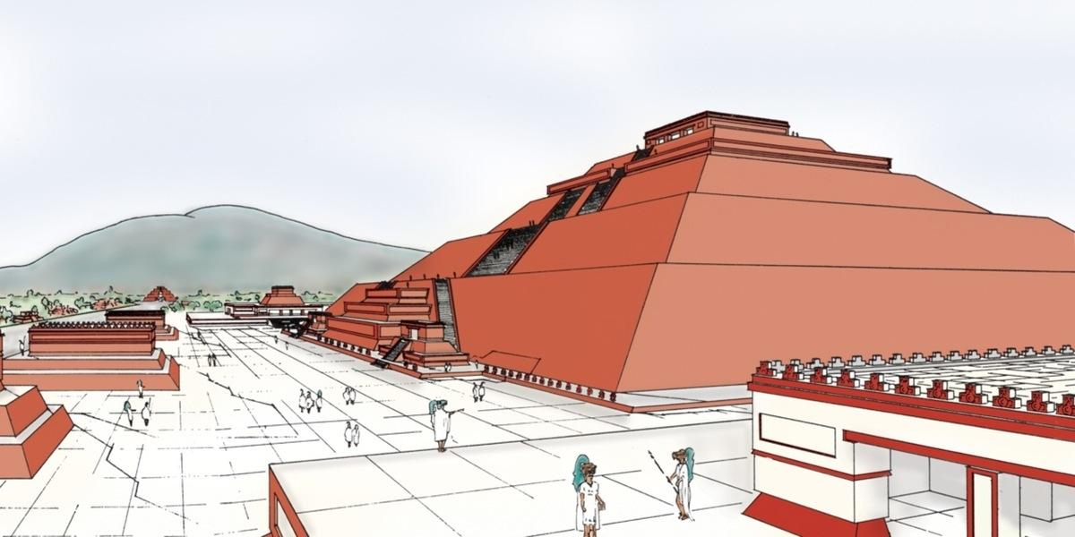 La Pirmide del Sol Teotihuacan Estado de Mxico  Arqueologa