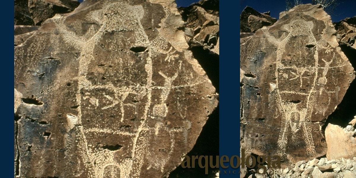 Petroglifos en Baja California