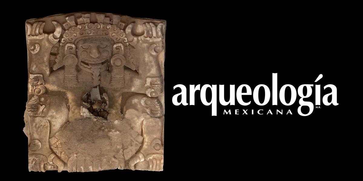 Hallazgo de lápida monumental con le representación de Tlaltecuhtli