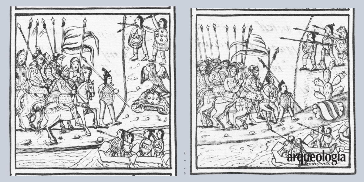 Inicio de la derrota de Tenochtitlan