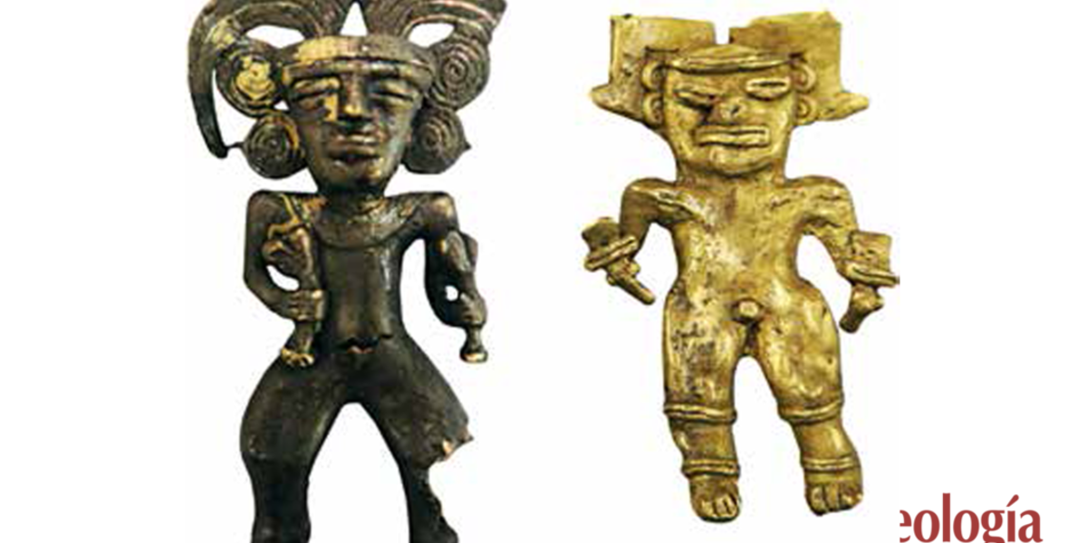 Oro centroamericano en el Cenote Sagrado de Chichén Itzá