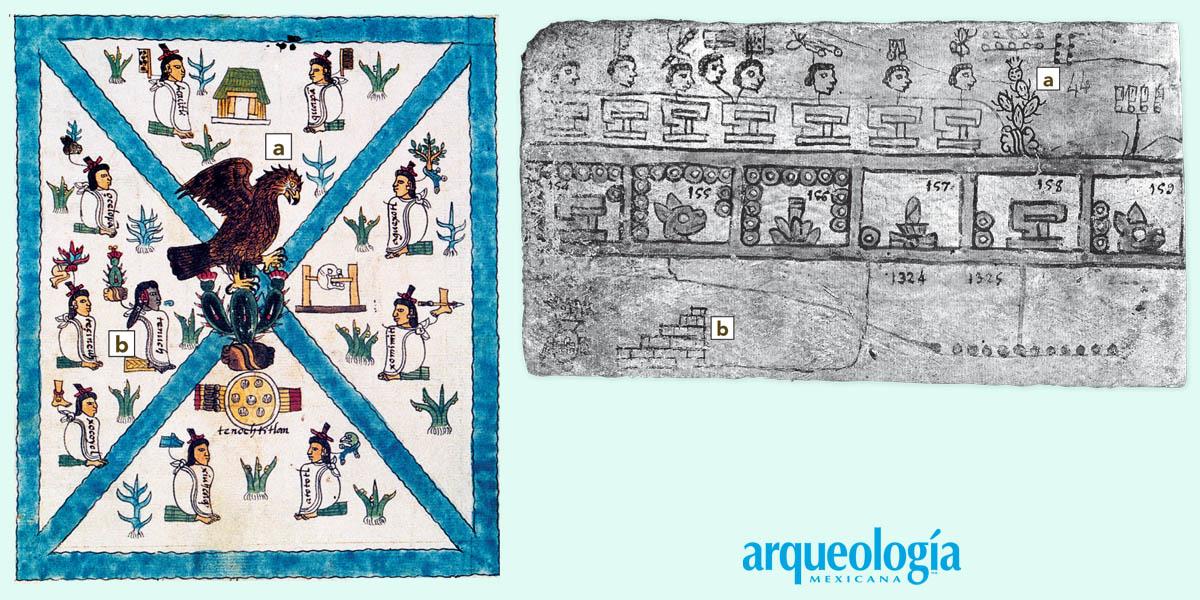 1325, año de la fundación de Tenochtitlan