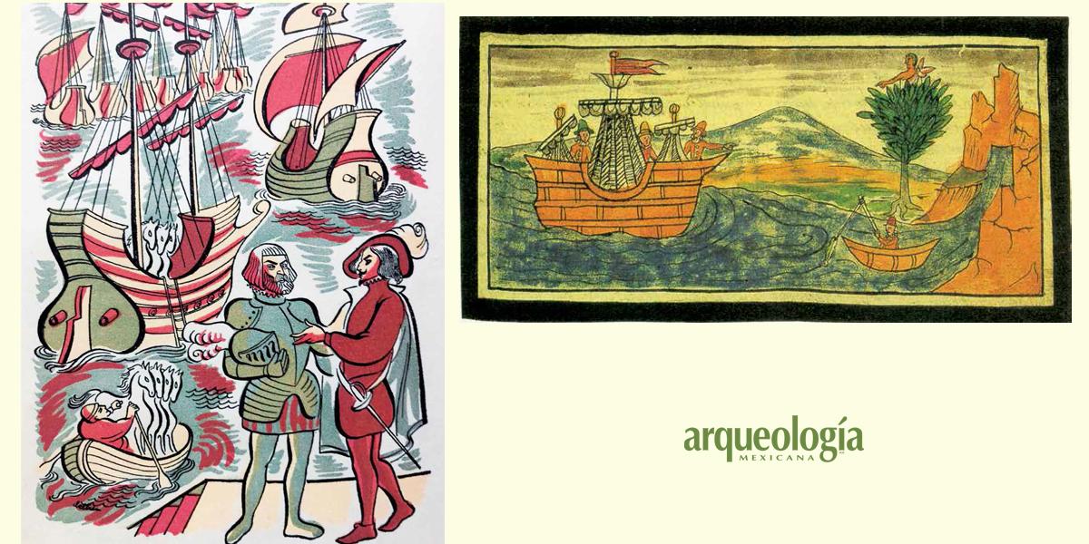 La flota de Cortés llega a Cozumel