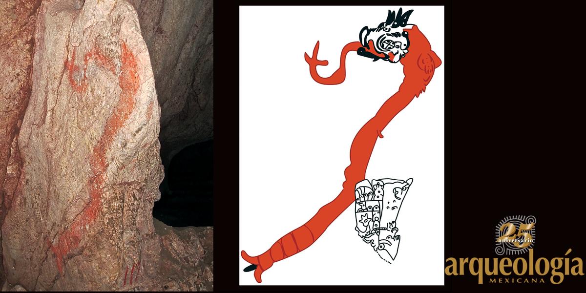 Las Grutas de Juxtlahuaca y la historia pintada de una deidad del maíz olmeca