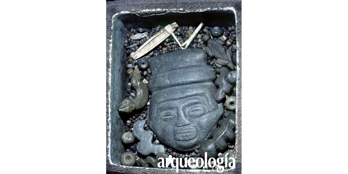 Templo Mayor de Tenochtitlan. Lado de Tláloc. Plataforma general