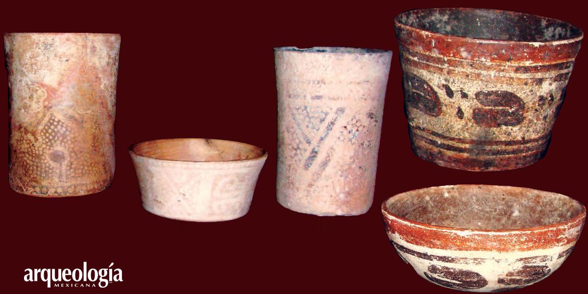 Cerámica de las tumbas de Yaxchilán