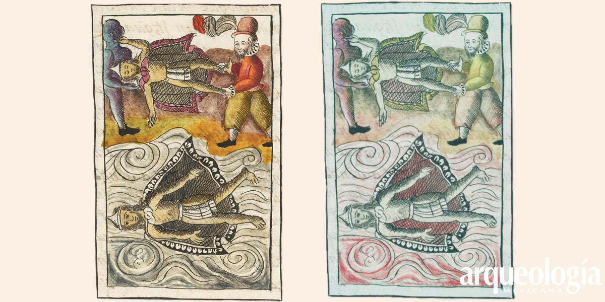 La muerte de Moctezuma a todo color