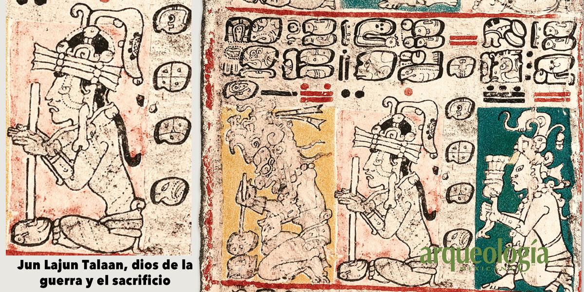 Dios Q o Jun Lajun Talaan, 'Uno Diez Misterio', dios de la guerra y el sacrificio
