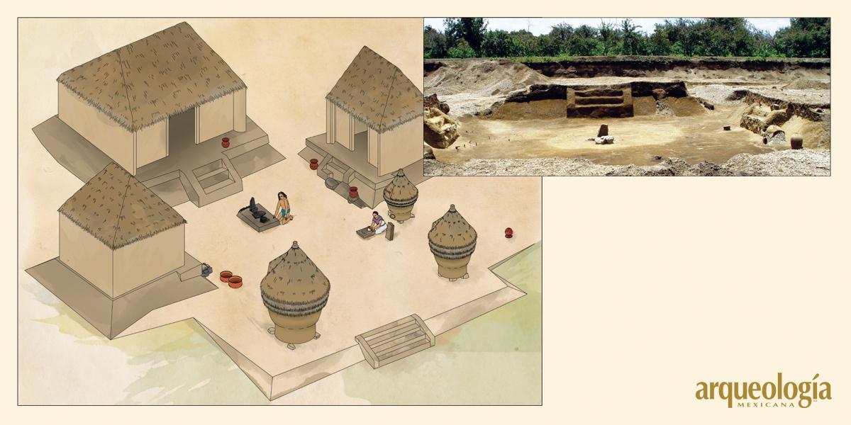 Casas de 700 a.C. en Tetimpa, Puebla