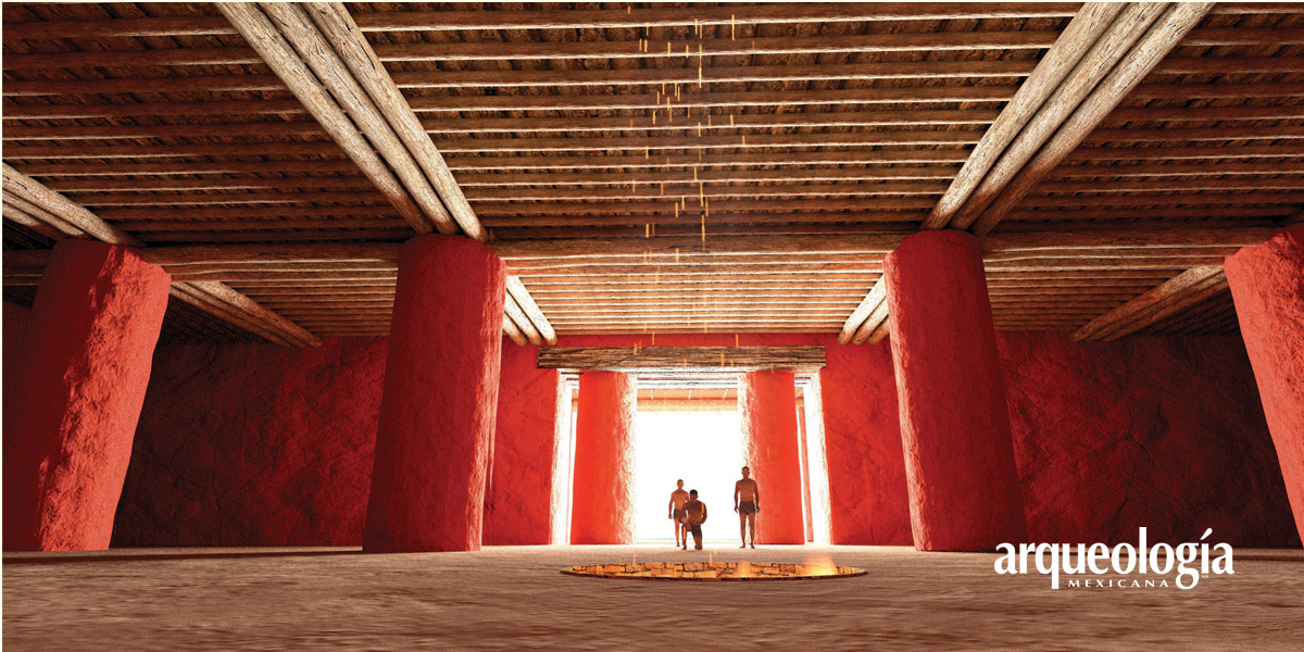 La construcción del Salón de las Columnas de La Quemada, Zacatecas