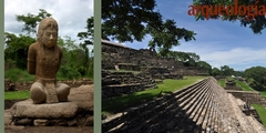 Esculturas de cautivos entre los mayas