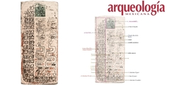 Página 61 (Escriba 3). Números de serpiente y almanaques de 7 x 260; tabla de las estaciones