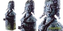 Y'ikin Chan K'awil (K'awil que Oscurece el Cielo) (?-766 d.C.). Tikal, Guatemala