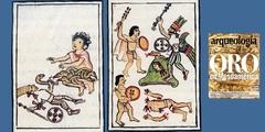Huesos cruzados y corazones torcidos. Una ofrenda con insignias de oro al pie del Templo Mayor de Tenochtitlan