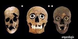 Cráneos en el tzompantli