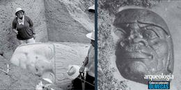 Excavaciones y cabezas olmecas