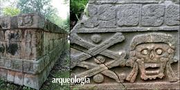 Cráneos perforados y tzompantlis en Chichén Itzá