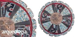 Disco con mosaico de turquesa de Chichén Itzá, Yucatán