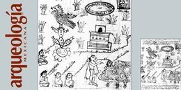 Una imagen de la fundación de México - Tenochtitlan en el Manuscrito 40