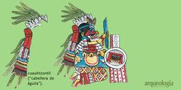 Insignias mexicas de plumas de águila