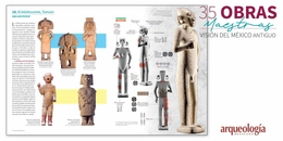 """""""Arqueología Mexicana"""" y sus 35 obras maestras"""